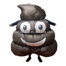 Novelty Halloween Event Carnival Party Inflatable Giant Mascot Emoji Poop Shit Costume