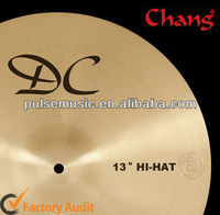 "CHANG DC Series Bronze Hi-hats Cymbals-13"",14"" For Drumset"