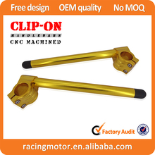 CNC 46mm Clip-On Handlebars Handle Bar For Kawasaki Ninja ZX6R ZX9R ZRX1100/1200 SV1000/S