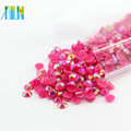 Jelly AB Colors Mixed Sizes Plastic Flatback Rhinestone Foiled Back Resin Stones, D-A006-Jelly Rose AB