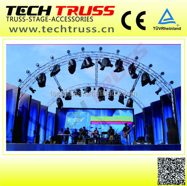 Universal cheap circle round truss / semi circle roof truss