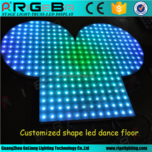 Professional Customized Acrylic Sector portable LED Digital Dance Floor for sale