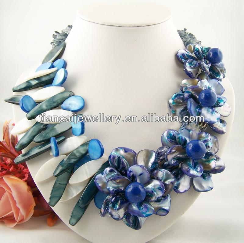 High Quality 2013 New Fashion Flower Shell Necklace Choker For Women Ladies' Wholesale Jewelry