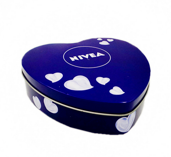 Customized Heart Shape Cookie Cake Chocolate Food Packaging Tin Box