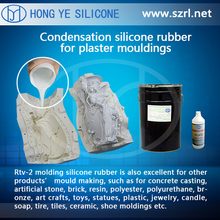 Liquid silicone rubber to make cement, gypsum or plaster molds