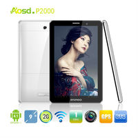 Phone call Tablet 2SIM P2000,9 inch Android4.1, MTK6515, Wifi, 2G, GPS, Bluetooth, dual camera, TF 32G, OTG