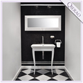 26'' Free Standing White Modern Hotel Cheap Bathroom Furniture QI-1078