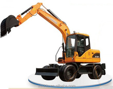 Heavy machinery rc hydraulic wheel excavator