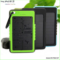 real capacity 5000mah solar power pack quick charger mobile phone waterproof rechargeable battery with ce fcc rohs