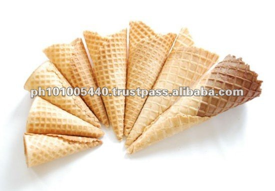Sugar Baked Wafer Biscuit Cone for Sale