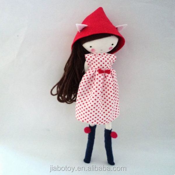 Maria handmade rag doll cloth doll with dress, socks and bow