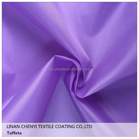 High quality 100 poly plain dyed taffeta lining