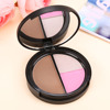 Makeup Blush Bronzer & Highlighter Contour Cosmetic 3 Color Power Palette