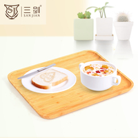 Kitchen and Dining Nesting Bamboo Serving Trays Set
