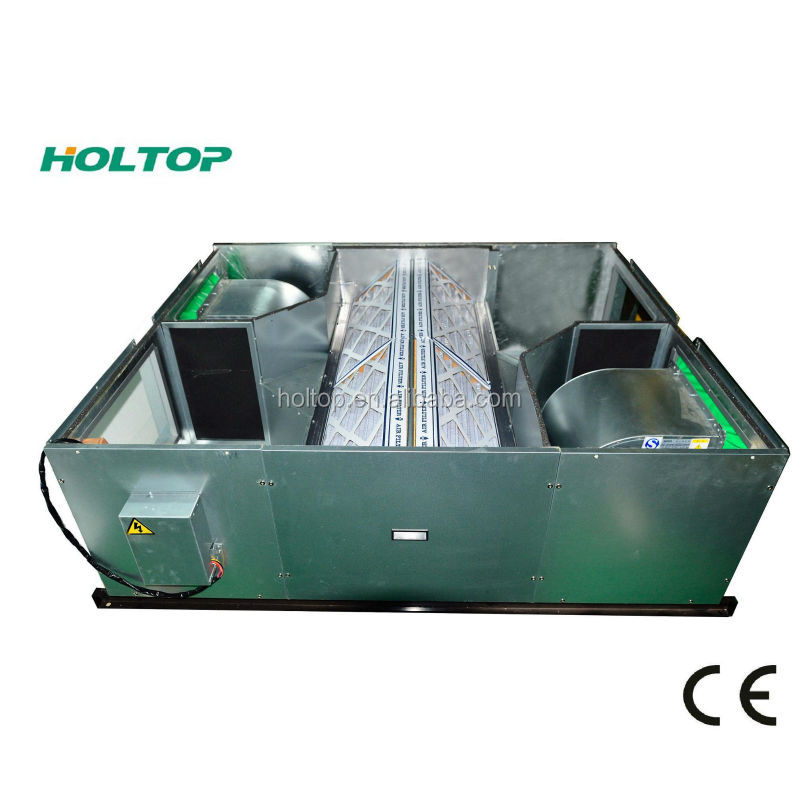 Recuperator Heat Recovery Ventilation System LCD control with temperature display