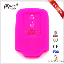 Soft silicone car key covers for Honda 3 buttons remote key case smart key shell