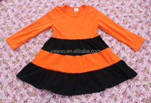 2014Autumn Baby Cotton One Piece Dress For Girls Of 7 Years Old Fashion Girls Long Sleeve Ruffle Dress Kids Child Birthday Dress