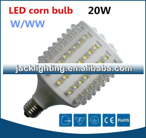 Top quality White AC220V 20 watts led corn cob light e27, led light corn bulb 20W