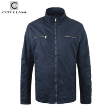 3804 Customized 100% Cotton Washed Jackets Coats Wholesale Cheap Casual Muti-Colors Zipper Windbreakers For Men