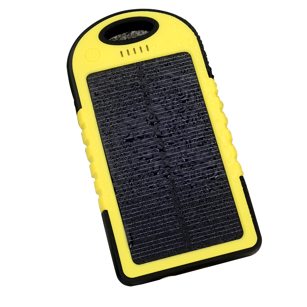 Power Bank 4000Mah,Mobile Cell Phone Solar Charger,Waterproof Solar Power Bank