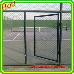 Removable galvanized or PVC coated chain link fence
