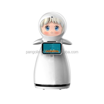 Home Accompany Robot with Mini Air Cleaner Intelligent Robot Humanoid Interactive Robot for Guesting Camera Security
