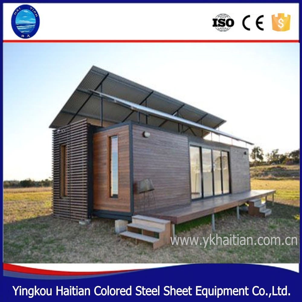prefab wooden houses beach 20ft container house beach house