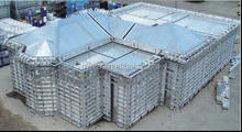 aluminium formwork system/one time pouring/monothilic concrete