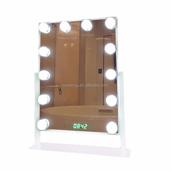 Hot sale Vanity Lighted Makeup Mirrors with Dimmer Stage Beauty Mirror LED Bulb