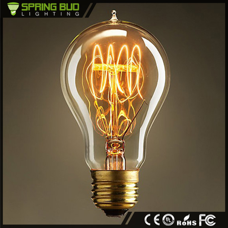 A19 energy saving retro double filament industrial 220v e27 40w vintage edison light bulb for decorative pendant light