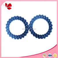 Fading color special flexible plastic phone wire hair tie rope hairband coil