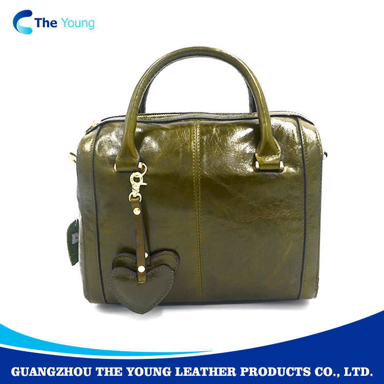 Low price guangzhou designer genuine leather handbag for woman