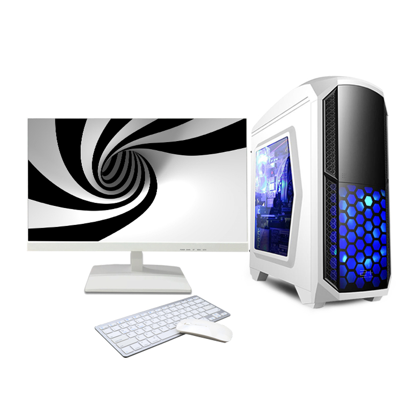 High performance configuration 24 inch led screen support win10 system gaming computer desktop pc