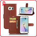 Factory Wholesale Book Folio With Card Holder Stand Flip Wallet Leather Case Cover for Samsung Galaxy S7 Edge