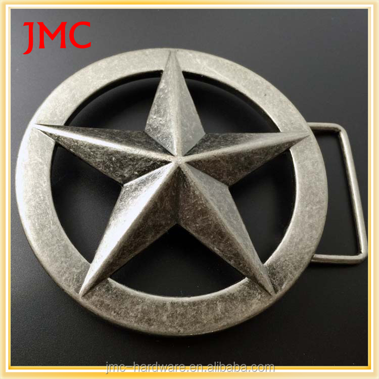 2016 hot sale define star buckle funny custom metal plate belt buckles