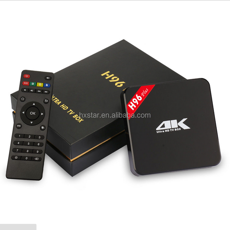 H96 Pro 2GB 16GB TV box S912 Android 7.1 BT4.0 media player 2.4G/5.8GHZ dual wifi smart tv stick 4K full HD movie