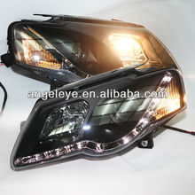 For VW Magotan Passat B6 LED Head Lamp Angel Eyes 2004- 10 V3 Type