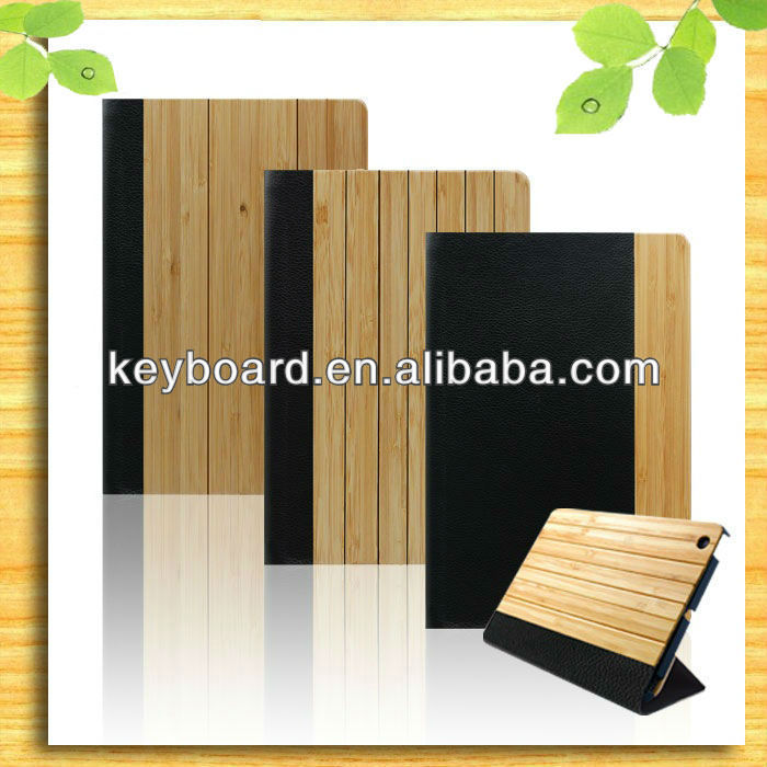 Newest design bamboo case for ipad mini smart cover