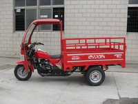 Big Power 200cc Motorized 3 Wheel Cargo Motorcycle With A Cabin On Sale