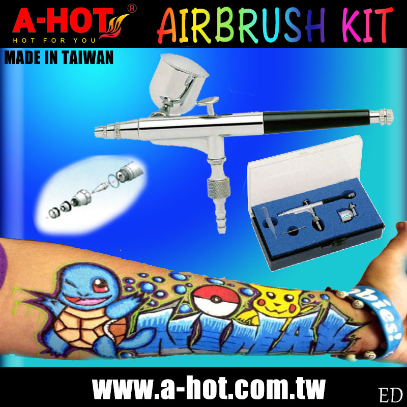 Awesome Pokemon Temporary Tattoo Machine Airbrush Kit