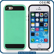 Fashion case tpu credit card wallet style cell phone case for iphone 5/5S/SE