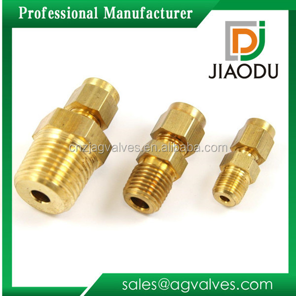 "Trade sale 1/2"" 1/4 1/8 inch 10mm Hot Sell High Quality Lead Free Brass high pressure Compression Fittings 22mm"