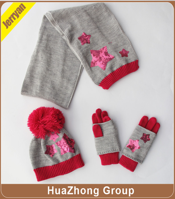 scarf hat gloves set