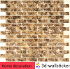 light weight peel and stick backsplash removable PU glue acrylic tile