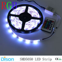 Mokungit 5M Waterproof 5050 SMD RGB LED Strip Lighting Flexible diode Ribbon Lamp Tape 12V