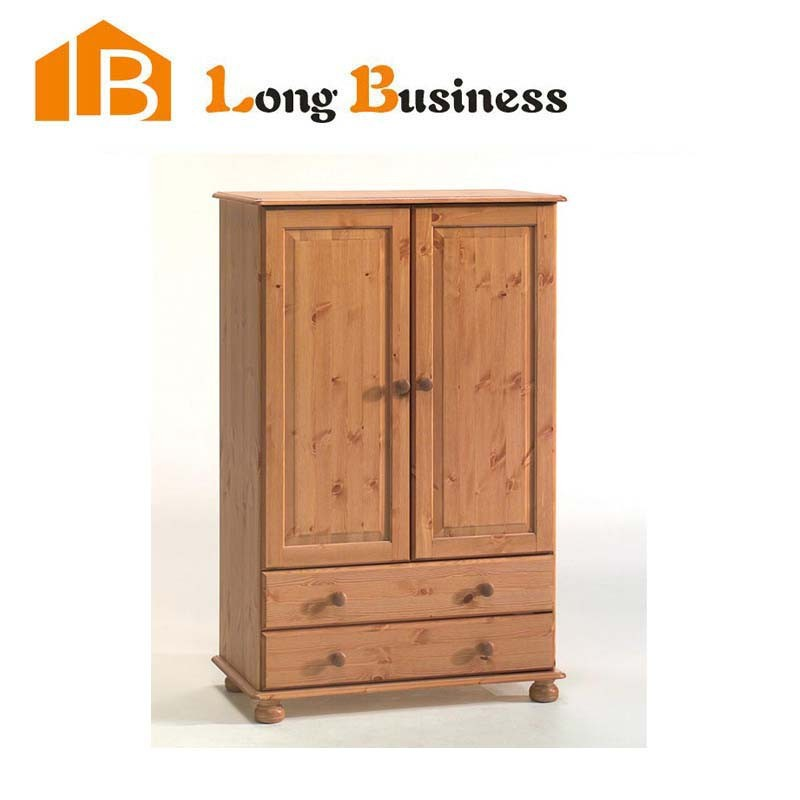 LB-JL3030 Antique design Chinese style hand painted solid wood two doors wardrobe