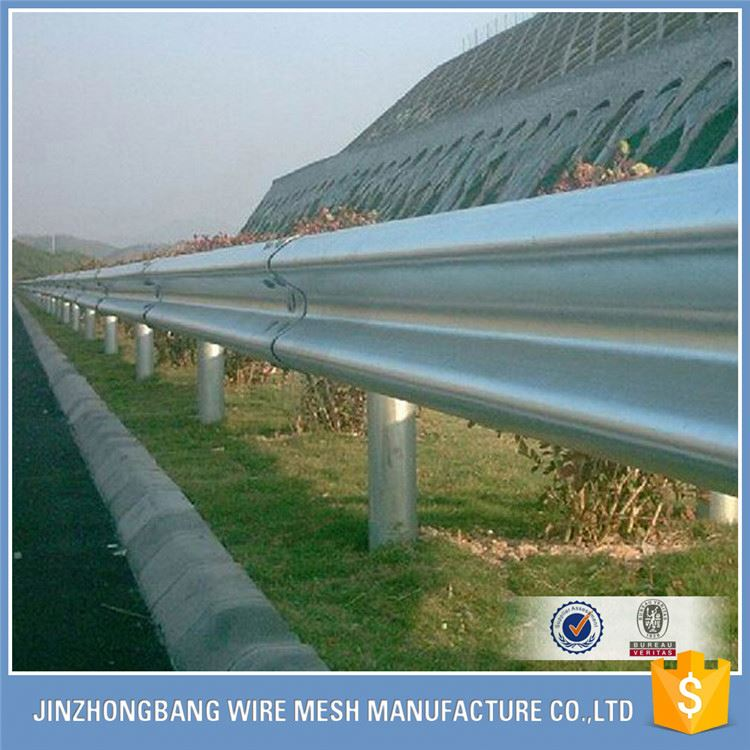 safety galvanized steel removable highway guardrail