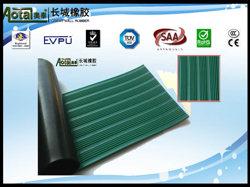 GREAT WALL RUBBER COMPANY PRODUCE fluted non-slip rubber flooring mat/antislip rubber flooring mat