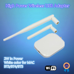 2W high power, 5dBi SMA external antenna, 5X range than standard mac usb wireless network adapter