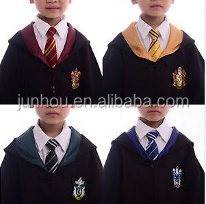 1pc Harry Potter Gryffindor/Slytherin/Hufflepuff/Ravenclaw Robe Kid Cos Costume